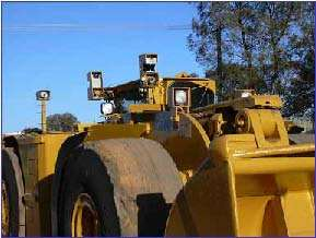 Underground Loader with front/rear lasers